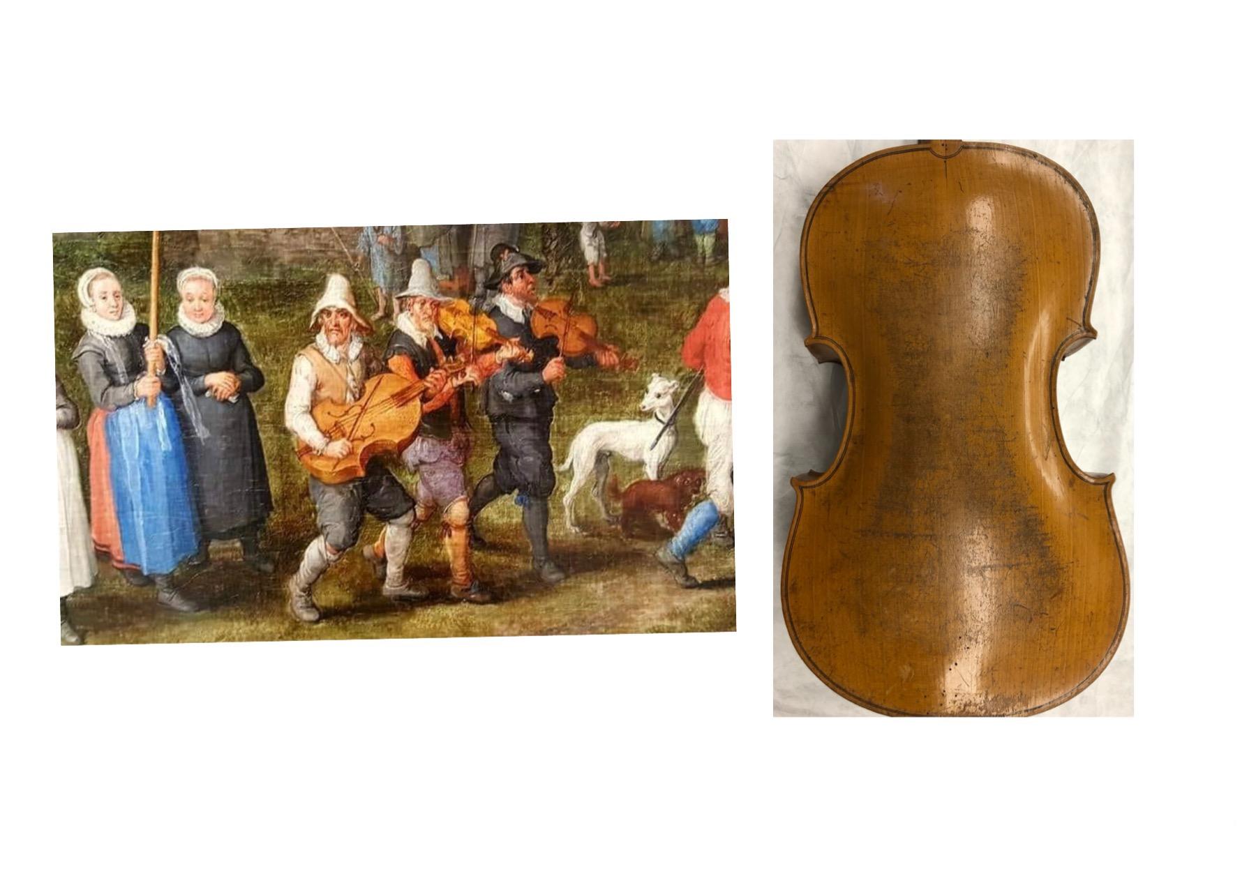 iconografia violoncello da spalla ed uso