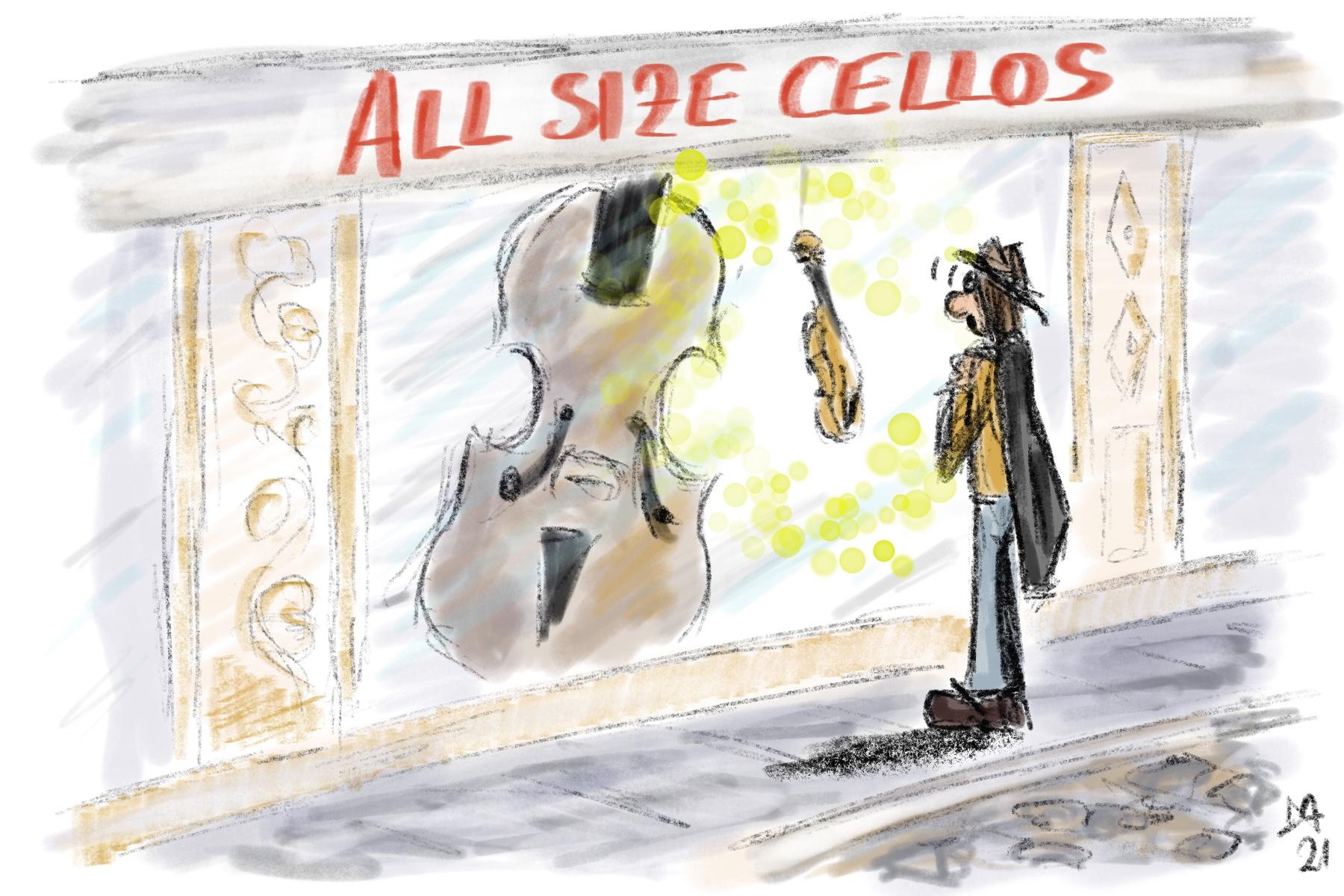 ricerca violoncelli da spalla originali