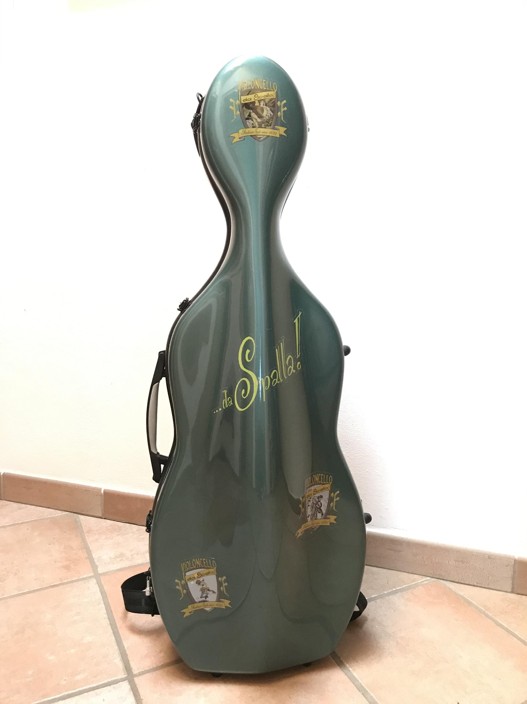 custodia violoncello da spalla con adesivi dedicati