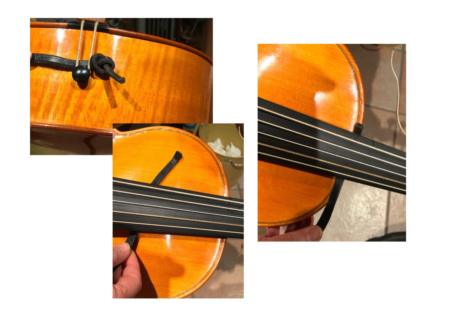 come usare la tracolla per il violoncello da spalla