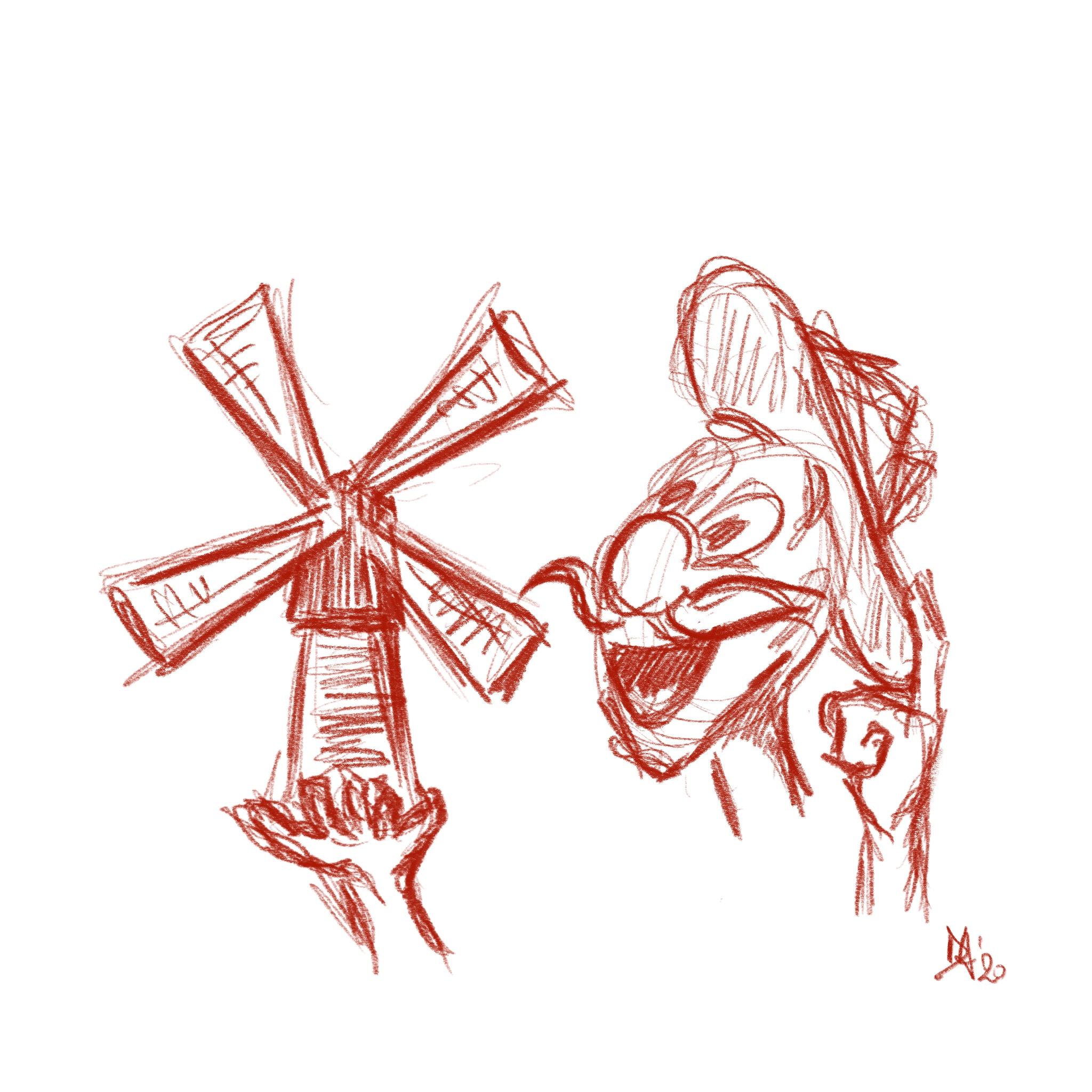 caricatura don Chisciotte daniela gaidano