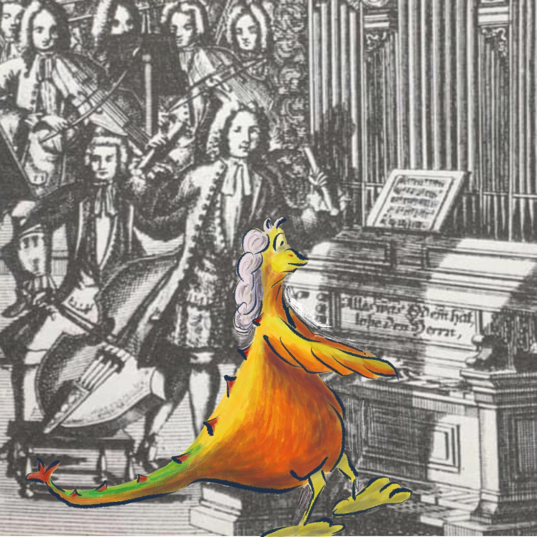 J. S. Bach disegno Daniela Gaidano