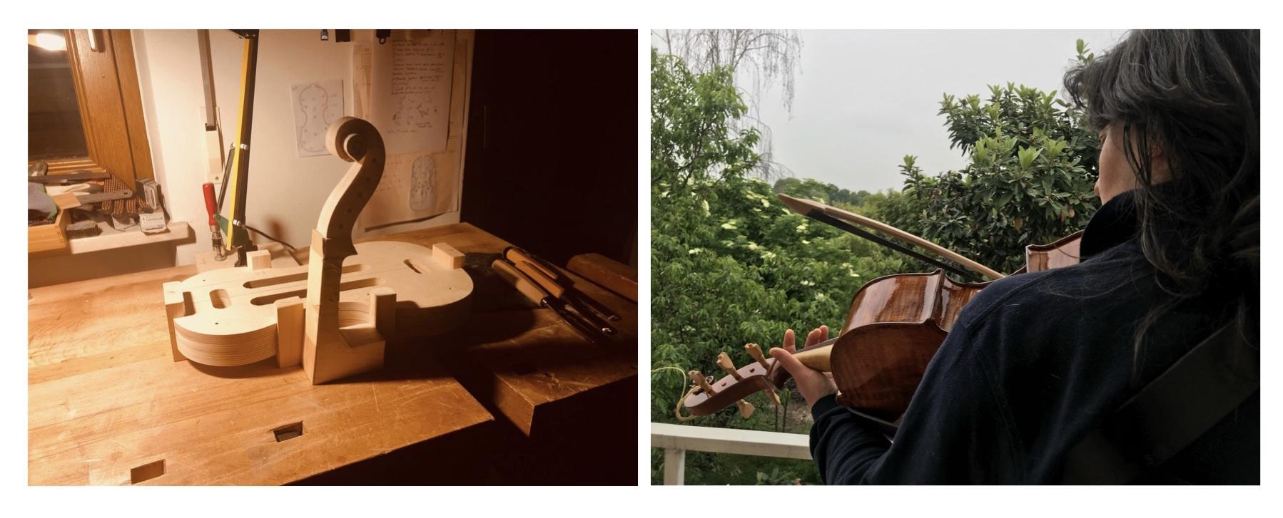 workshop visintini Gaidano violoncello da spalla