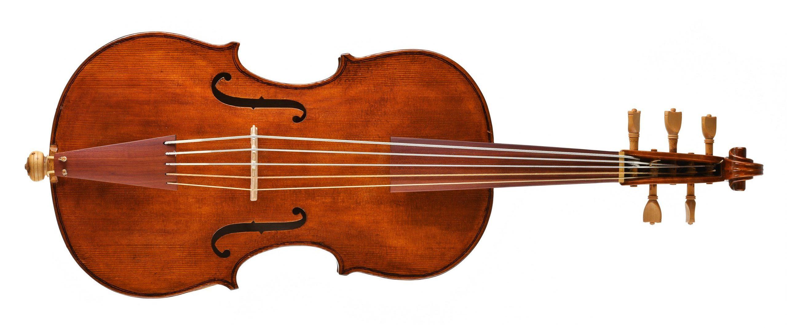 Violoncello da spalla ispirato a Wagner di Lubecca