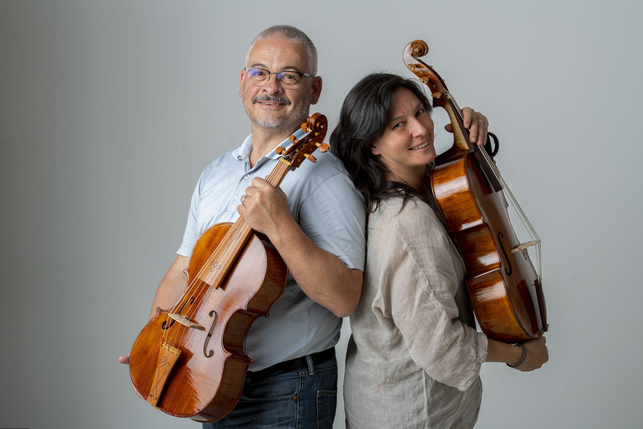 Alessandro Visintini e Daniela Gaidano violoncello da spalla makers
